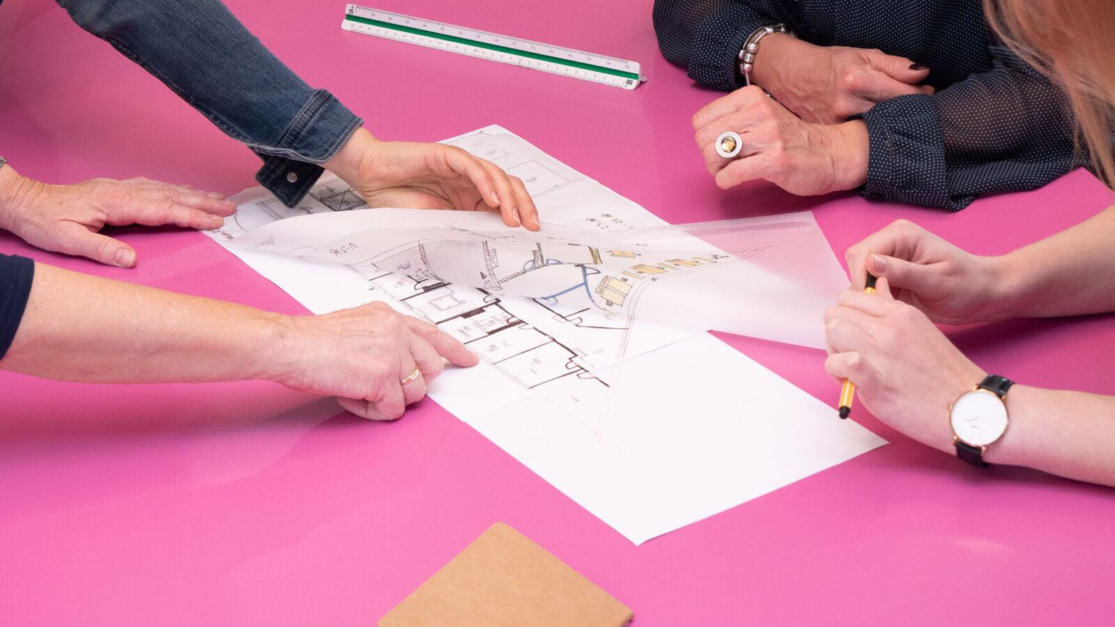 projekt k optimiert Büroflächen für effizientere Flächennutzung und bessere Arbeitsatmosphäre