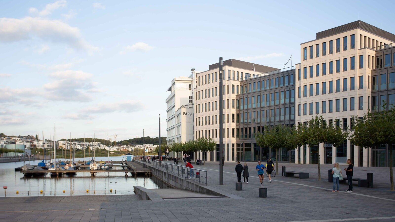 Fassade des Kontor am Kai in Dortmund, Architektur: Kleihues + Kleihues