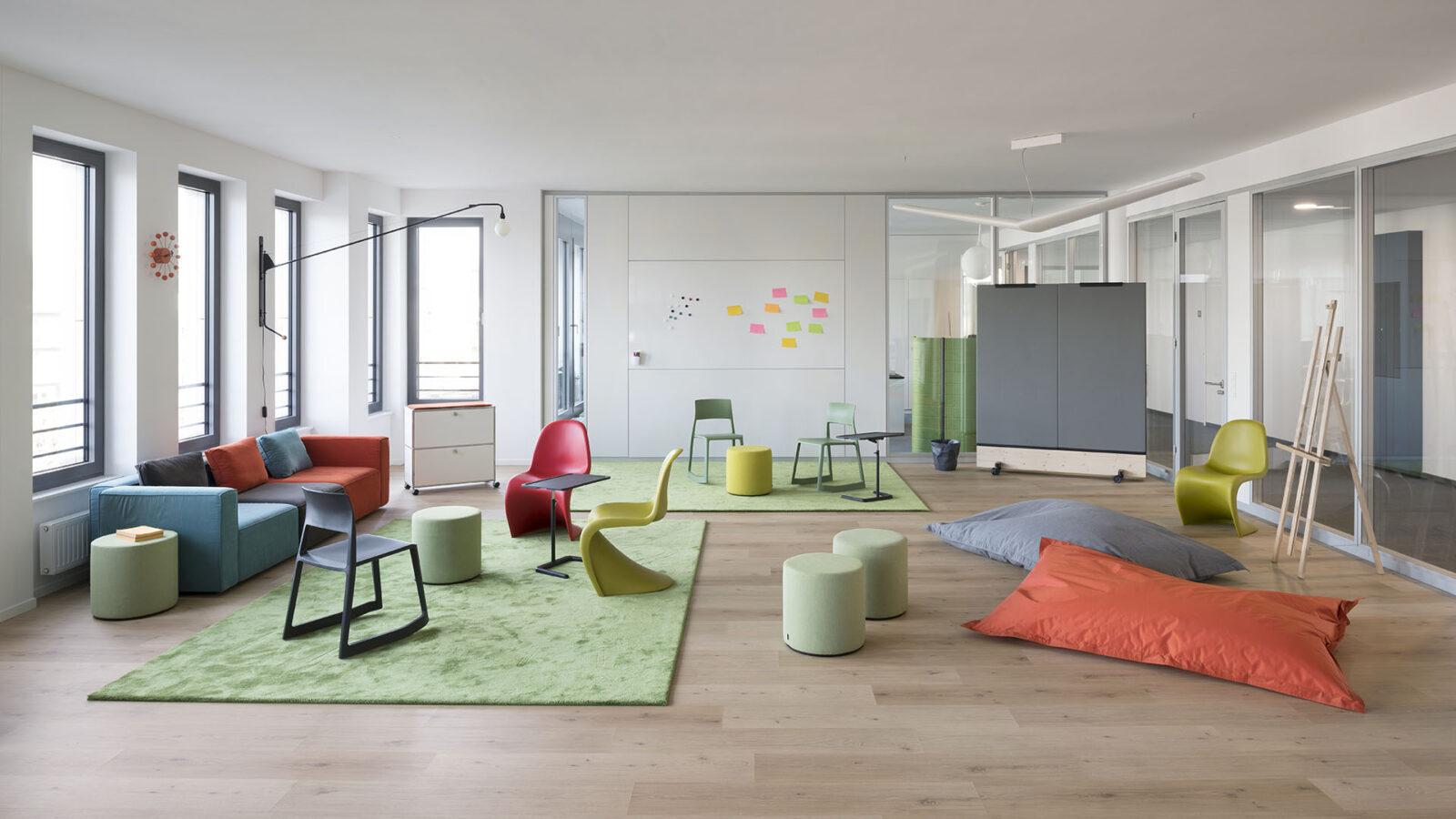 Das Designlabor ist ein flexibel nutzbarer Raum um mit Teams Ideen agil zu entwickeln