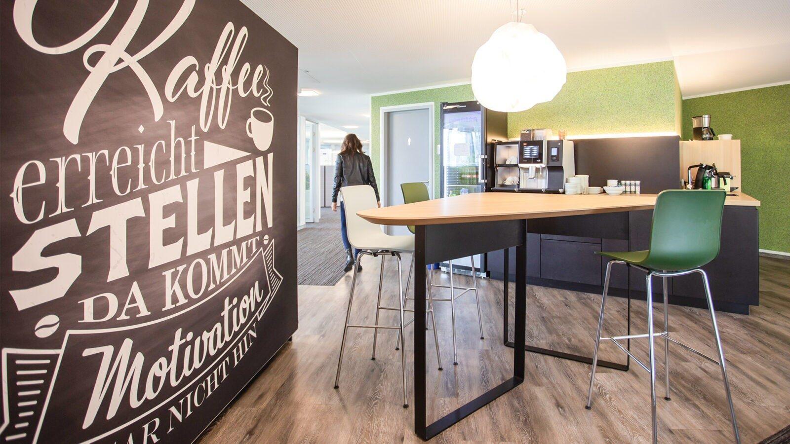 Raum für spontane Kommunikation: Die Kaffee- und Teeküche